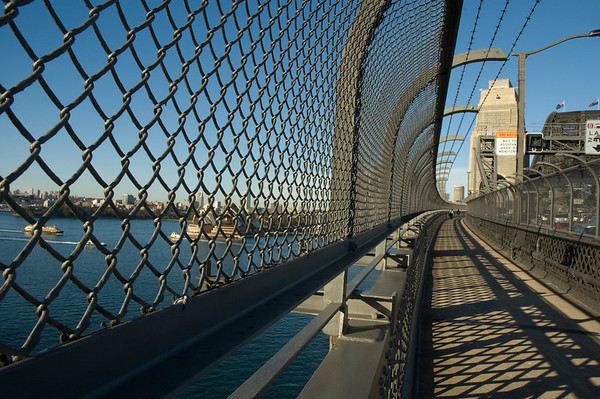 Walkway on Sydney Harbour Bridge