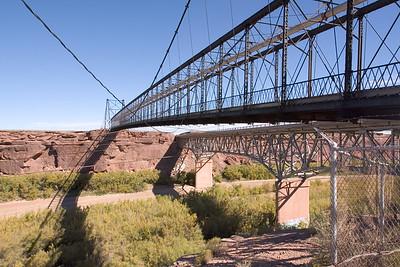 Cameron suspension bridge over Little Colorado River
