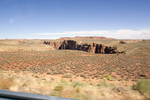 We continue west on Navahopi Road, paralleling the Little Colorado