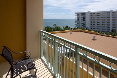 At least you can see the ocean from the balcony