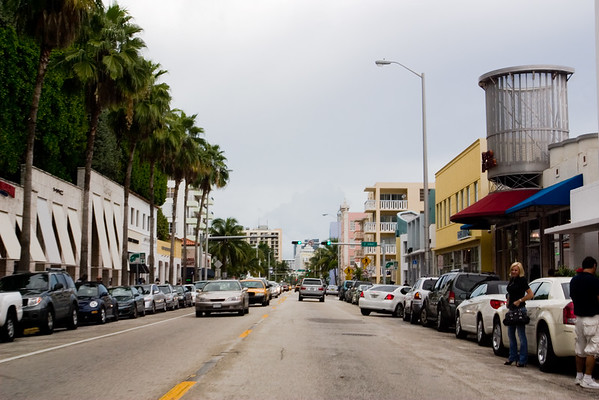 Driving along Collins Avenue