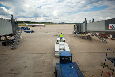 Valerie and my flight from Pittsburgh International Airport approaches the gate