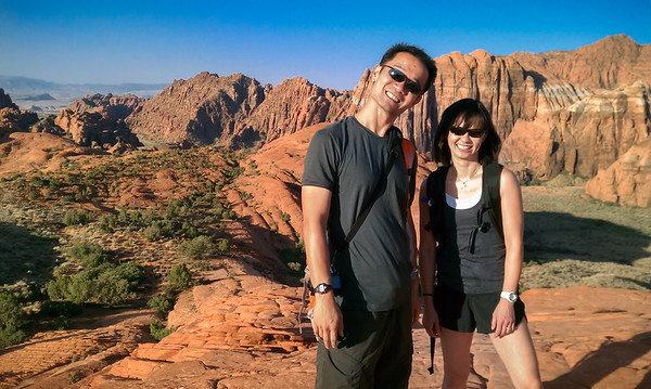 Pete and Valerie in Snow Canyon State Park