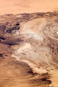 Somewhere over the Mojave Desert descending towards Vegas