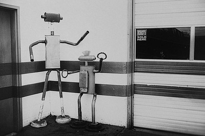 ROBOTS SOLD HERE - B&W