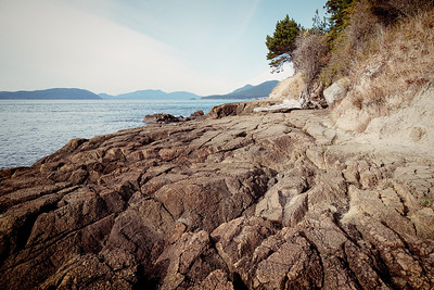 Rocky beach area in Washington Park, Anacortes, Washington.