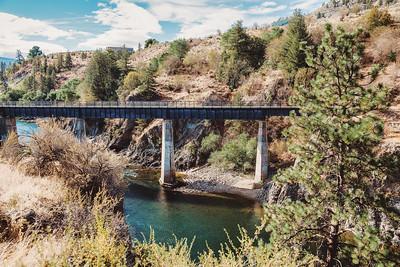 Walking bridge over Similkameen River
