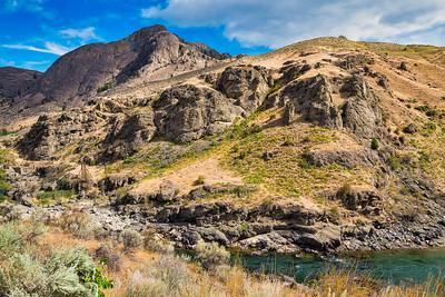 Landscape near Similkameen River dam