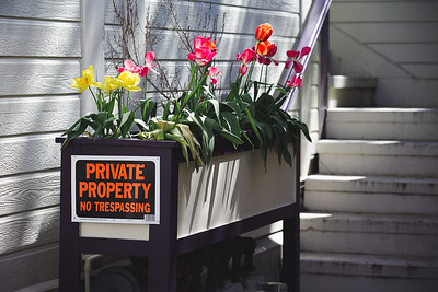 Private Property Flower Box