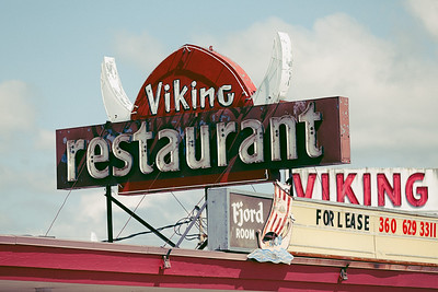 Viking Restaurant Sign