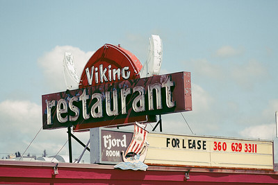 Viking Restaurant Sign III
