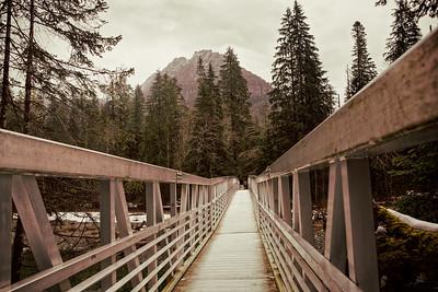 Metal bridge over the Stillaguamish River