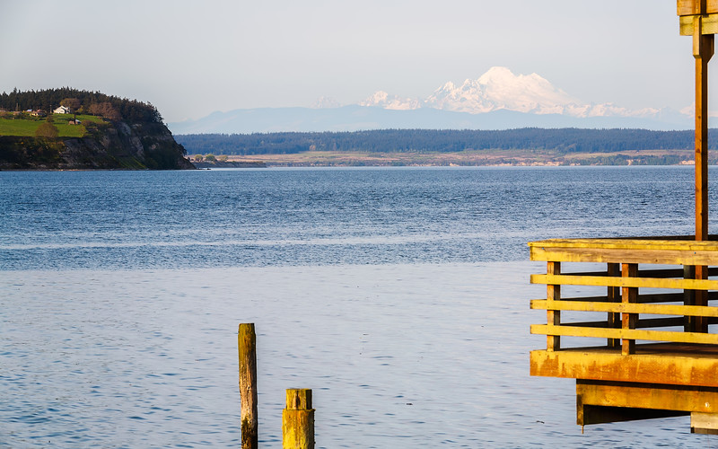 Mt. Baker from the Coupeville Wharf