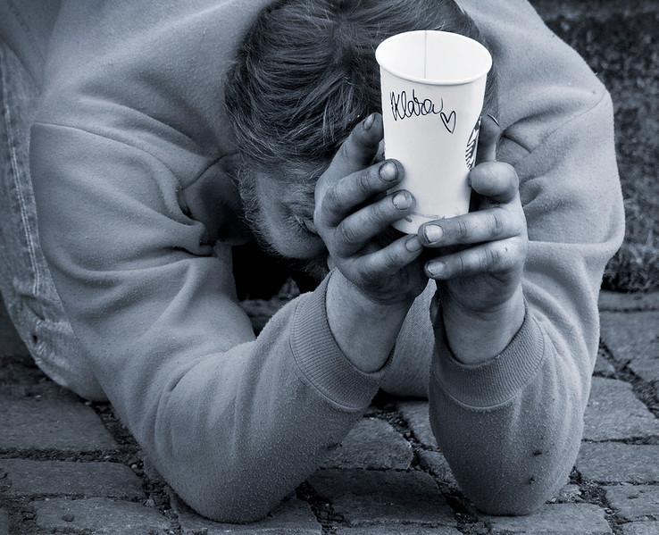 beggar in Prague