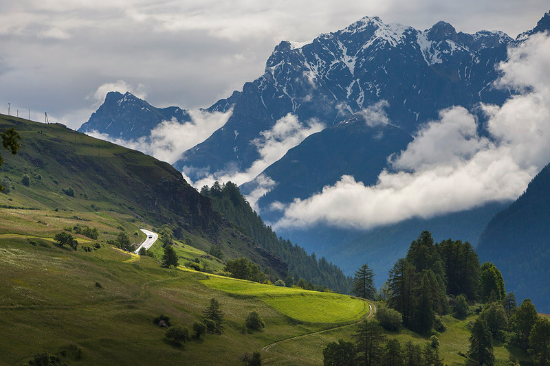 Swiss Alps near Guarda