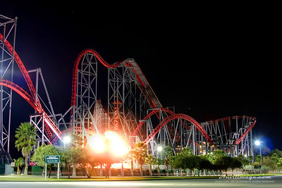Pure Adrenaline This photo is featured on the Park Thoughts website under the review for the roller coaster X2 at Six Flags Magic Mountain.