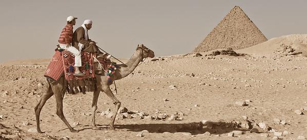 Hitching a Ride. Giza, Egypt