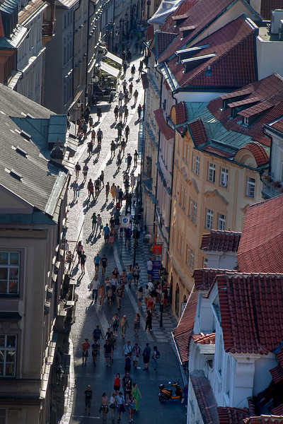 Pedestrians in Prague