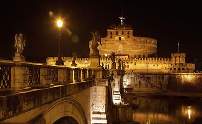 Hadrian's Tomb across the Tiber River