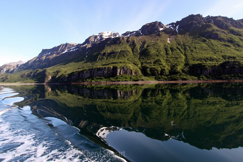 Reflections in our wake, Alaska