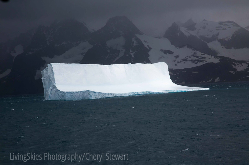 Huge Iceberg in dramatic light