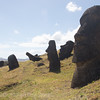 Of the almost 900 moai, 397 remain at the quarry, 92 were broken on route to an Ahu, and 288 were moved and erected.
