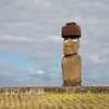 Ahu Ko Te Riku -  The restored moai eyes, whites would have been carved from coral, and the iris, black obsidian ( black diamond ) found on the island.