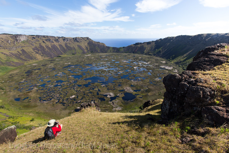 Overlooking Rano Kau Crater,