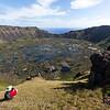Overlooking Rano Kau Crater,