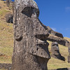 Each face is unique to that moai, and represented an elder, chief or powerful ancestor,