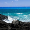 Four shades of blue water