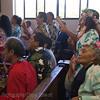 the locals singing in church