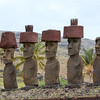 Moai at Anakena, with top hats