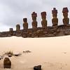 Anakena Moai atop Ahu Nau Nau