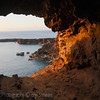 The second cave opening, as the sun begins to set