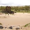 Sandy beach at Anakena