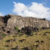 the remains of the rock base of Ahu Tepeu,