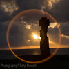 Moai at sunset<br /> Ahu Ko Te Riku