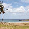 Sandy beach behind the Moai at Anakena