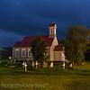 Older Church at night - Borgarnes