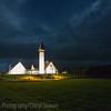 Church/Museum at Reykholt at night.