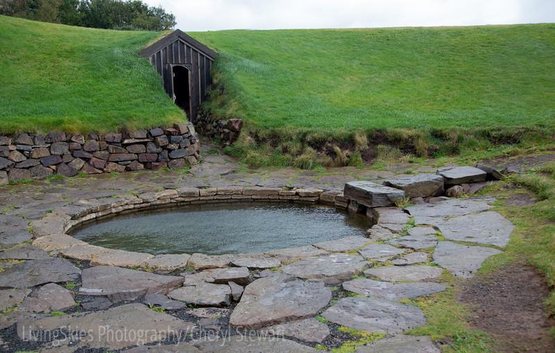 Snorri's Bath - a pool heated by thermal springs