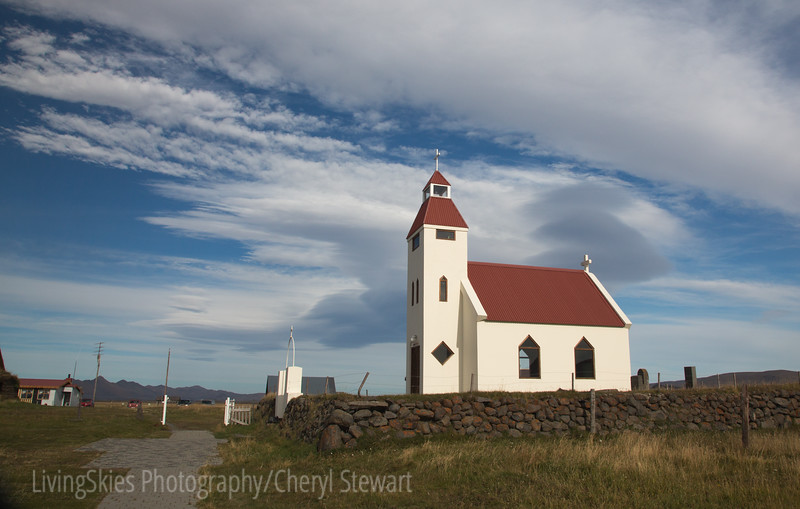 Church at Modrudalur - the most isolated farm in Iceland