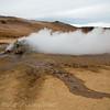 Hot pools around Krafla, an active volcano