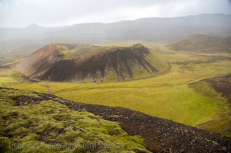 One of the three craters at 3000 year old Grabrok Volcano