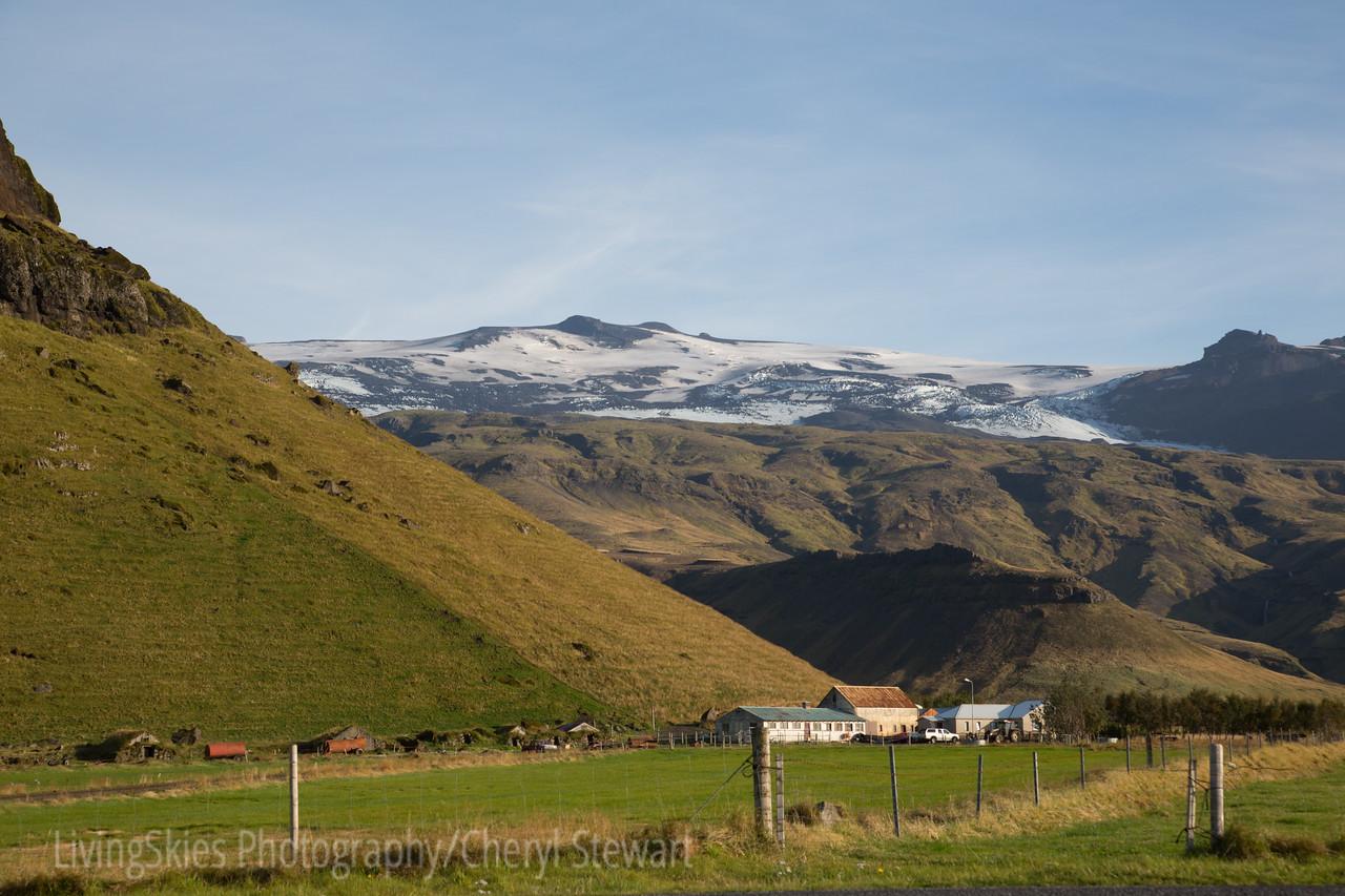 The family farm at the base of Eyafjallajokull