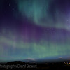 Northern lights, with the church