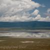 Clouds reflect in lake, Ngorongoro Crater