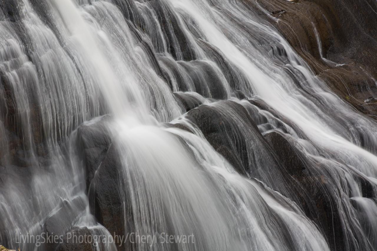 Gibbon River Falls  - detail   YNP