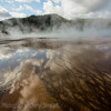 Grand Prismatic Spring & reflections   YNP